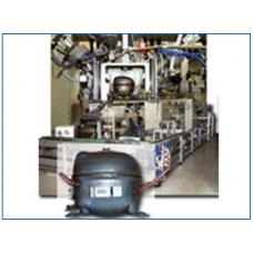 LEAK TEST MACHINE FOR HERMETIC COMPRESSORS