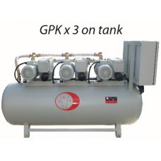 GP K SERIES 3 PUMPS ON RECEIVER TANK